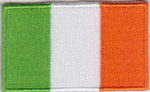 Ireland Embroidered Flag Patch, style 04.